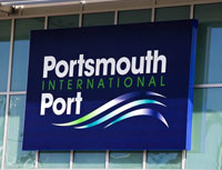Signs Of The Times At Portsmouth International Port
